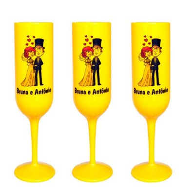 Taça de Champagne personalizada em Fortaleza 170ml