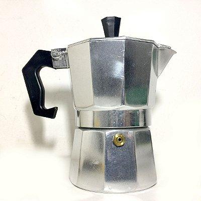 Cafeteira Italiana em aço polido - 3 xícaras