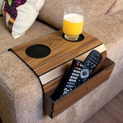 Esteira Bandeja Flexível para sofá com porta controle