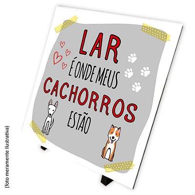 Azulejo Lar é onde meus cachorros estão