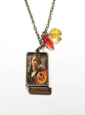 Colar Jogos Vorazes medalha Katniss