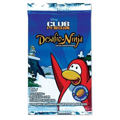 6 Cartas colecionáveis Club Penguin Desafio Ninja com código para jogo