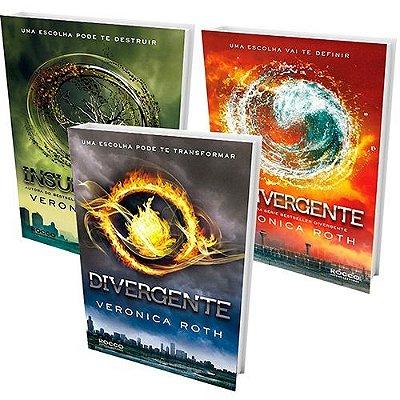 Kit Divergente com 3 livros com marcador divergente gratuito!