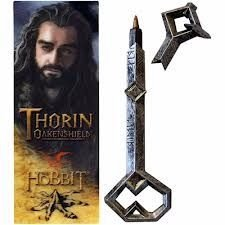 Caneta Oakenshiel de Thorin(escudo de carvalho) acompanha marcador de livro