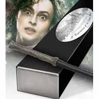 Varinha Bellatrix Lestrange réplica por Noble Collection caixa simples (modelo reto)