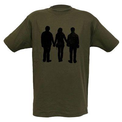 Exclusiva Camiseta Adulto Original Silhuetas de Harry Potter, Rony e Hermione