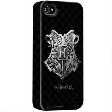 Case Iphone 4 e 4S - Brasão de Hogwarts em fundo Preto