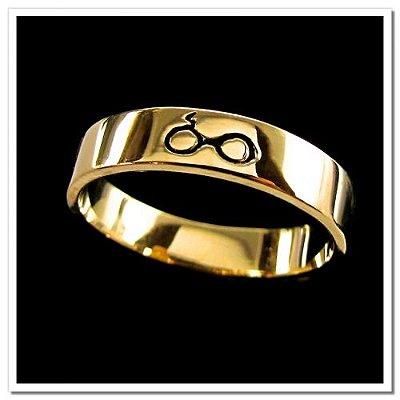 Aliança Óculos Harry Potter Folheado em Ouro 18k