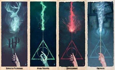 Kit Marcadores de Pagina Harry Potter Feitiços