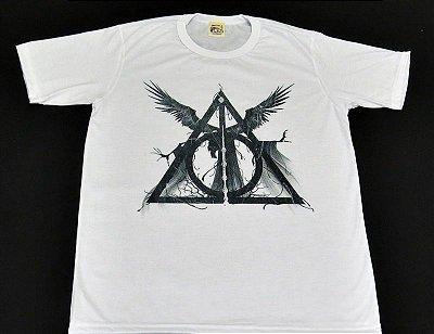 Camiseta Unissex Harry Potter Reliquias da Morte