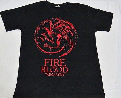 Camiseta Unissex Game of Thrones Brasão Targaryen