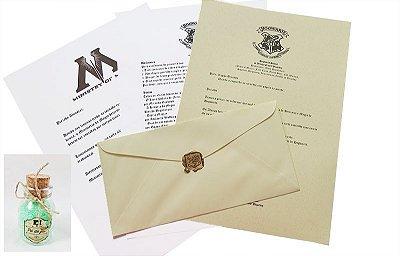 Pó de Flu, a Carta de aceitação em Hogwarts e o Ticket Expresso