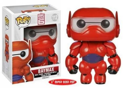 Funko Pop Exclusive Baymax Metálico Big Hero 6