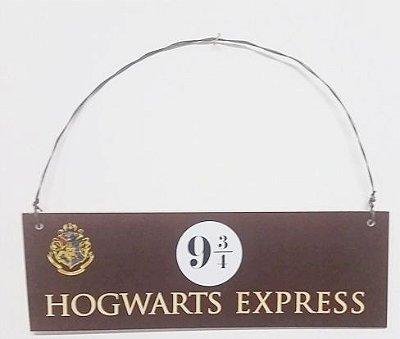 Placa Plataforma Hogwarts Express 9 3/4