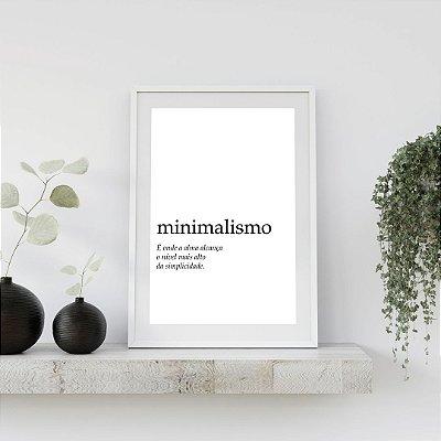 Quadro Tipografia - Minimalismo