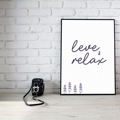 Quadro Coleção Lavanda - Leve e Relax