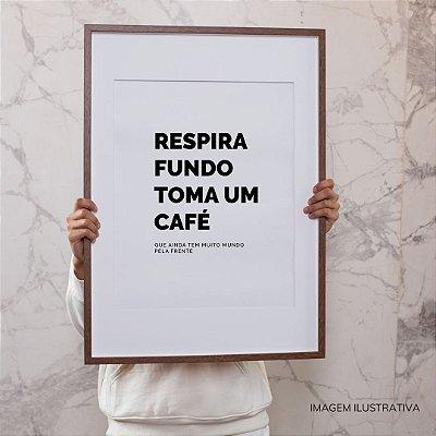 Quadro Frase Café - tipografia