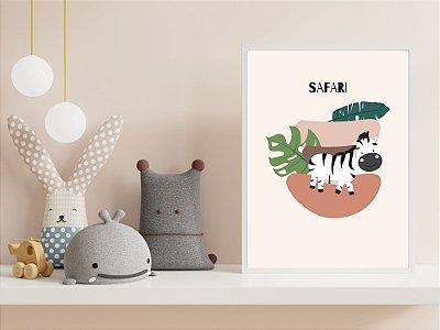 Quadro Infantil - Coleção Safari - Zebra