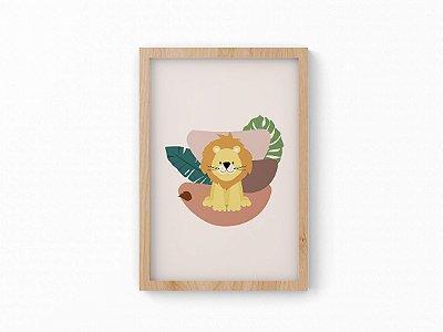Quadro Infantil - Coleção Safari - Leão