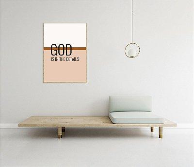 Quadro Tipografia - Coleção Esperança - God