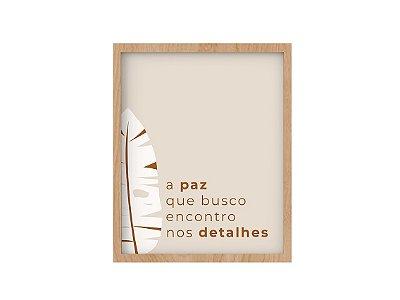 Quadro Tipografia - Coleção Esperança - Paz