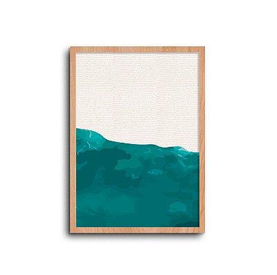 Quadro Praia - Coleção Bahia - Azul Bahia 01