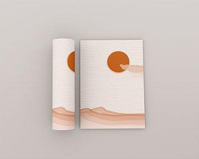 Quadro Minimalista - Coleção Tribo - Deserto Terracota 01