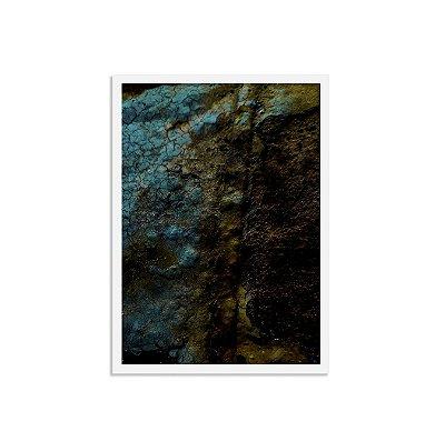 Quadro Abstrato - Azul Petróleo