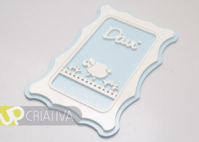 Quadro porta maternidade e quarto do bebê ovelha personalizado