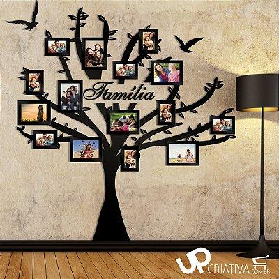 Árvore de Fotos Familia Em MDF Pintado - 15 Fotos