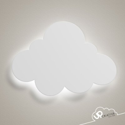 Luminária Nuvem Pequena com LED para quarto de bebê