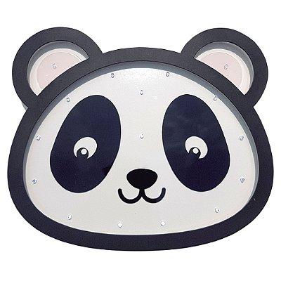 Luminoso Panda MDF/Led Frontal para Quarto de Bebê