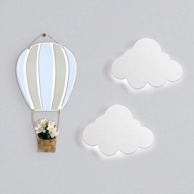 Kit Luminária Nuvem + Balão flâmula