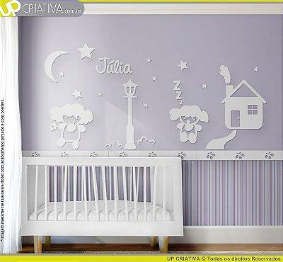 Painel decorativo para quarto de bebê - Tema Bonecas MDF