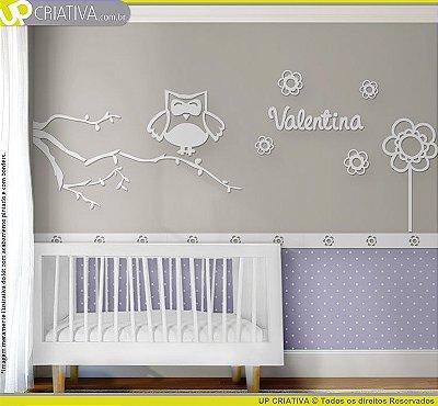 Painel decorativo para quarto de bebê - Tema Corujas MDF