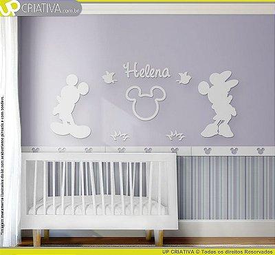Painel decorativo para quarto de bebê - Tema Mickey MDF