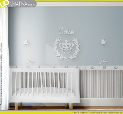 Painel decorativo para quarto de bebê - Tema Coroa MDF