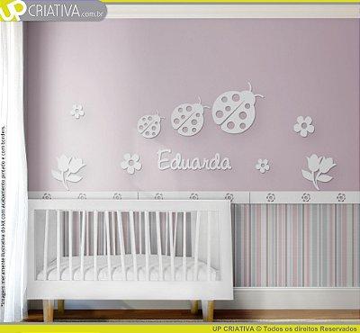 Painel decorativo para quarto de bebê - Tema Joaninhas MDF