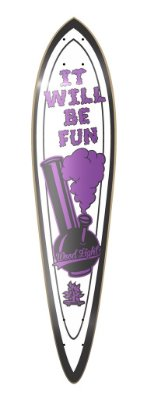 SHAPE LONGBOARD PINTAIL POSITIVE VIBRATIONS - WILL BE FUN