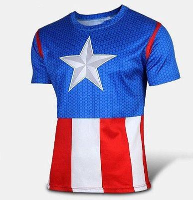 Camiseta Capitão América - Clássico