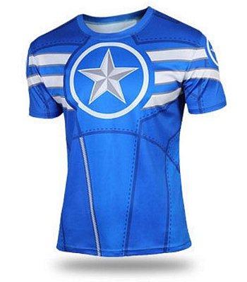 Camiseta Capitão América - Azul
