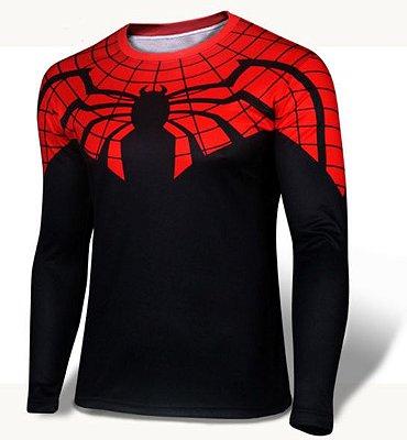 Manga Longa Homem Aranha - Superior