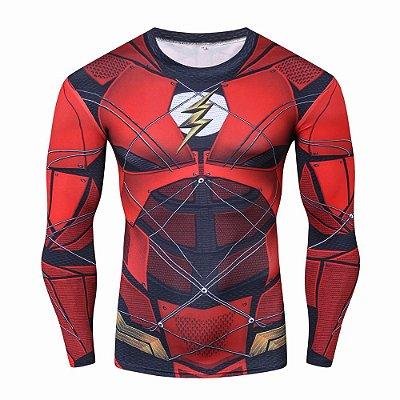 Manga Longa Flash - Liga da Justiça