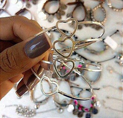 Bracelete de Coração Prata 925