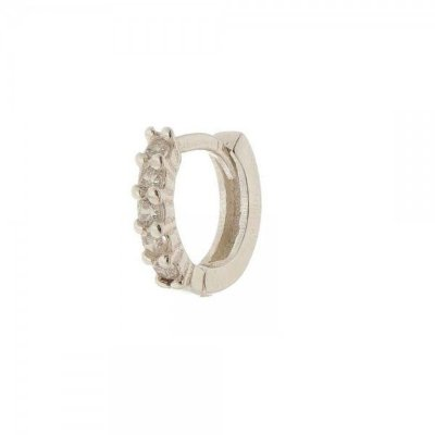 Piercing Argola Cravejado Prata 925