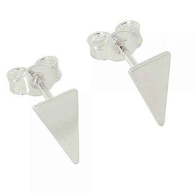 Brinco Triângulo liso Mini Prata 925