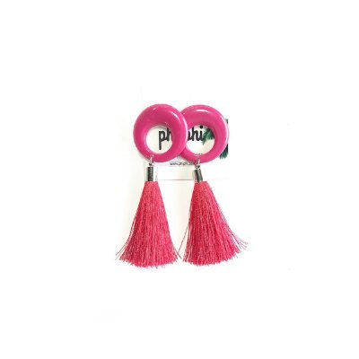 Brinco Pink and Red