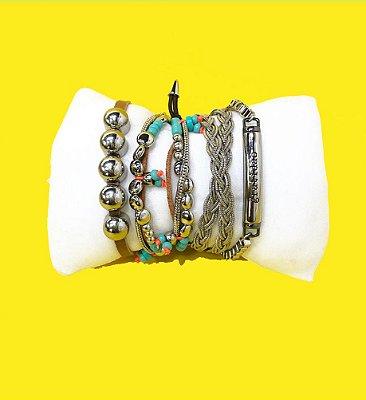 Mix de pulseiras Safari