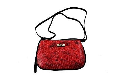 c391f864e4 Bolsa Feminina Com Alça Transversal em Couro Legitimo - Serpente Vermelha