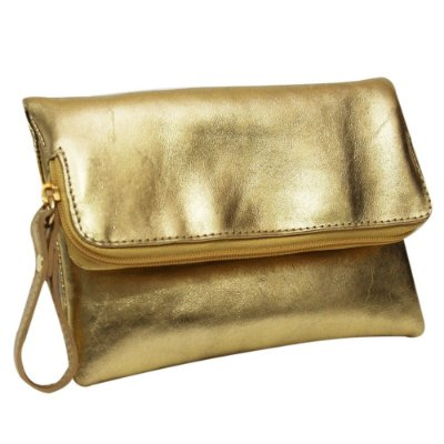 Bolsa Feminina Com Corrente Dourada Em Couro Legítimo